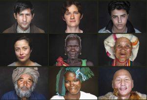 Mosaïque de visage issue du film HUMAN (c) Fondation GoodPlanet
