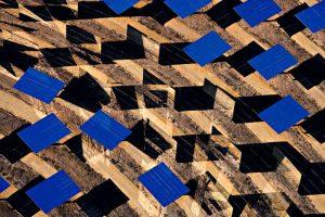 Centrale solaire thermoélectrique de Sanlucar la Mayor, près de Séville, Andalousie, Espagne (37¡26Õ N Ð 6¡15Õ O) ©Yann Arthus-Bertrand