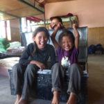 Jeunes internes dans l'ancien internat © Estelle Delahaye-Panchout