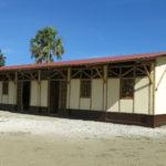 Vue d'ensemble de l'école en bambou du projet © Fondation GoodPlanet