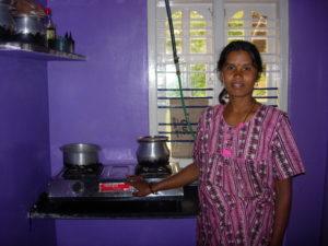 Bénéficiaire indienne du projet biogaz